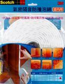 泡棉防撞 3M  6603 隔音防撞泡棉(室內用)【文具e指通】