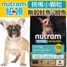 此商品48小時內快速出貨》(送購物金300元)Nutram加拿大紐頓》T28無穀鮭魚+鱒魚挑嘴小顆粒犬糧-5.4kg