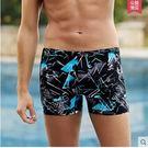 男士時尚速乾透氣加大碼寬鬆平角泳褲PLL...