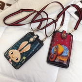 手機包 裝手機的小包包韓版潮夏天可愛斜背包少女迷你卡通手機包 芊墨左岸