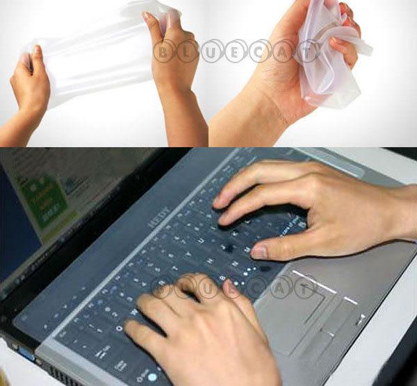 【BlueCat】灰塵快散 NB   MAC筆記型電腦專用鍵盤抗菌保護伸縮透明薄膜