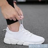 小白鞋男 男鞋春季新款小白潮鞋男士韓版潮流百搭休閒帆布白鞋運動布鞋 快速出貨