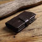 【Solomon 原創設計皮件】果實系列 扣式短夾