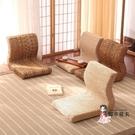 和室椅 榻榻米座椅日式簡約子飄窗椅單人床上電腦無腿靠背椅T