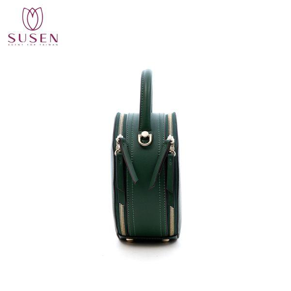 SUSEN 車輪雙口手提包 附寬背帶+細背帶