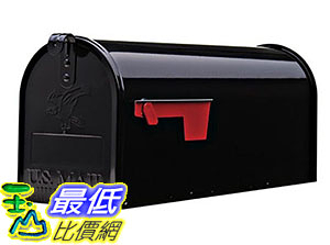 [美國直購] Gibraltar E1100B00 信箱 Elite Medium Capacity Galvanized Steel Black Post-Mount Mailbox