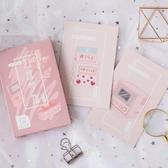 信的戀人盒裝明信片幻緋夢物可愛粉色夢幻清新少女心簡約留言卡片