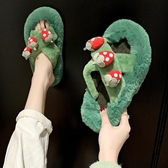 毛毛拖鞋拖鞋女秋冬季新款時尚外穿毛毛鞋百搭韓版家用冬天草莓棉拖鞋新年禮物