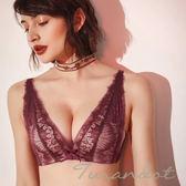 。。◆杜蘭朵 ◆無鋼圈 蕾絲精緻刺繡 迷人性感 舒適好穿 內衣 [613] 成套內衣 黑/灰/酒紅(C)