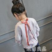 童裝拼接衛衣女童長袖上衣兒童寬鬆假兩件中大童t恤 米菲良品