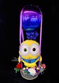 小小兵拿香蕉幸福熱氣球,金莎花束/情人節禮物/婚禮佈置/派對慶生,節慶王【Y030020】