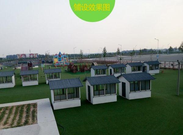 人造仿真草坪人工假草皮幼兒園戶外綠植裝飾學校塑料綠色地毯墊子  IGO