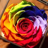 進口永生花禮盒玻璃罩情人節母親節禮物
