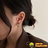 耳環女復古氣質耳釘簡約冷淡風【happybee】