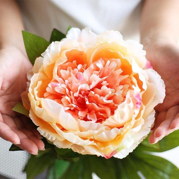 仿真大牡丹花玫瑰花束婚慶家居客廳落地裝飾干花假花絹花插花擺件