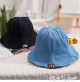 漁夫帽 帽子女韓國牛仔布漁夫帽男女夏天戶外時尚盆帽出遊百搭折疊遮陽帽 七夕好康搶購