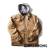 BILLABONG BARLOW TWILL 男連帽外套 褐 M706QBBTGUM【GO WILD】