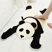 熊貓造型植絨吸水防滑地墊(大50x80cm) BUNNY LIFE