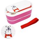 白熊款【日本進口正版】Pokefasu x Plust 日本製 雙層便當盒 餐具三件組 千葉純一 - 161657