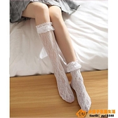 2雙 lolita襪子日系復古小腿襪洛麗塔蕾絲花邊鏤空堆堆襪超級品牌【桃子居家】