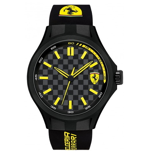 FERRARI Pit Crew 時尚賽車款橡膠帶腕錶/0830158