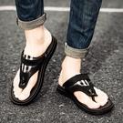 夾腳拖鞋 沙灘鞋男士涼鞋男潮室外皮拖鞋2021新款涼拖鞋男夏季外穿人字拖男