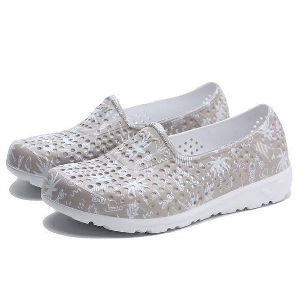PONY TROPIC 水鞋 灰白 印花 洞洞鞋 情侶 男女 (布魯克林) 02U1SA08SY