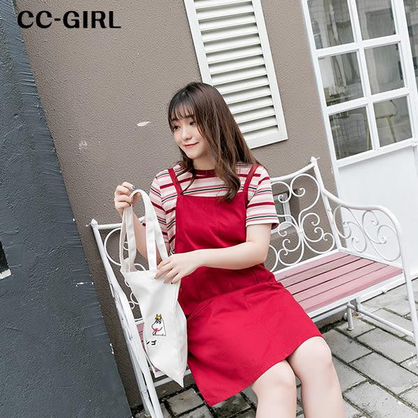 中大尺碼 吊帶背心連身裙~共三色 - 適XL~5L《 66353J 》CC-GIRL 新品