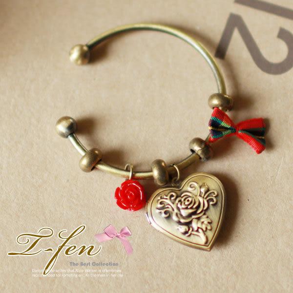 玫瑰情緣愛心造型手環 現貨 T-FEN