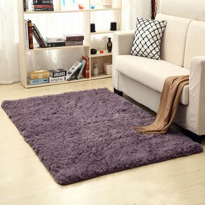 Qmishop 加厚水洗絲毛防滑地毯40*60cm【J014】