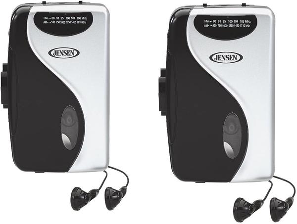 [2美國直購] 磁帶播放器 Bundle Of 2 Jensen SCR-68C Stereo Cassette Player with AM/FM Radio