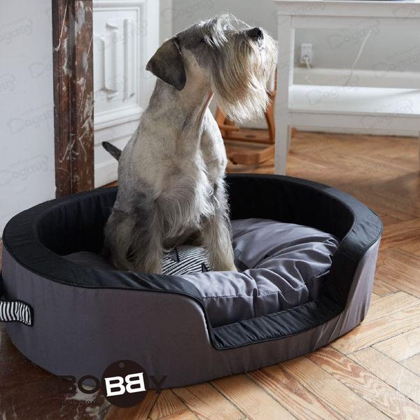 法國《BOBBY》時尚男女睡窩 M  全床可拆洗 挺拔外框 中型犬 狗床 睡窩 柯基/柴犬