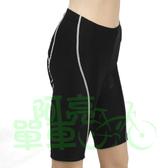 *阿亮單車* BikeSkin 自行車線條五分短車褲(SH04),Lycra布料,透氣有彈性,黑色《C00-SH04-51》