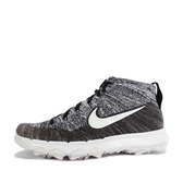 WMNS Nike Flyknit Chukka [819006-001] 女鞋 高爾夫 戶外 運動 黑 白