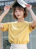純棉短袖t恤女2021新款寬松夏季ins潮女裝網紅超火上衣服半袖體恤