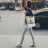 日韓文藝帆布包女單肩包簡約森系學生環保袋韓版女包夏手提購物袋