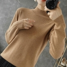 羊毛衫 半高領羊絨衫女修身內搭短薄款針織...