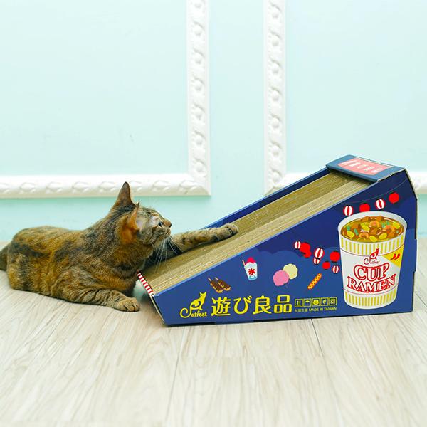 寵物家族-CatFeet 遊玩良品-大斜坡貓抓板(季節慶典/太空漫步)