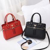 手提包 包單肩斜挎大容量百搭手提包PU簡約潮流百搭包包