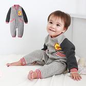 空氣棉連身衣 美式棒球 造型服 運動風 男寶寶 簡約 爬服 哈衣 保暖 Augelute Baby 50820