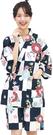 Nishiki【日本代購】和式清涼居家服 睡衣 上下套裝 棉100% - 鉄紺地市松に菊