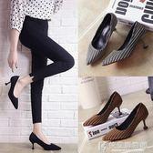 高跟鞋小清新女細跟尖頭少女百搭貓跟鞋單鞋5cm少女 快意購物網