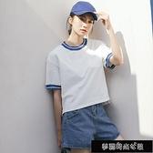 短袖21年新款女ins潮t恤純棉白色寬鬆韓版網紅顯瘦夏半袖超火 夢露時尚