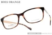 BOSS ORANGE 光學眼鏡 BR0165 RNS (琥珀) 都會時尚經典奢華 平光鏡框 # 金橘眼鏡