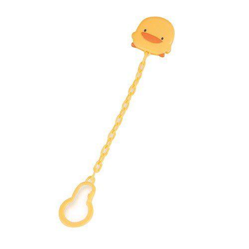 【奇買親子購物網】黃色小鴨安全奶嘴鍊