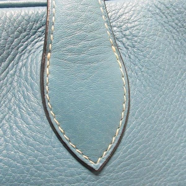 HERMES 愛馬仕 75 Bleu Jean藍色皮革手提包 旅行袋 Victoria Taurillon【BRAND OFF】