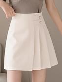 褲裙 2021年新款百褶裙高腰短裙褲A字裙子韓版氣質西裝半身裙女春夏裝 夏季新品