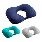 按壓充氣U型枕 充氣枕頭 U型枕 按壓充...