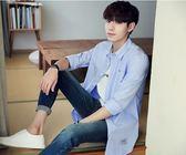 紳士風素色口袋設計長袖襯衫《M50231 》