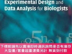 二手書博民逛書店Experimental罕見Design And Data Analysis For BiologistsY2